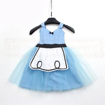 ALICE IN WONDERLAND Cosplay dress TUTU dress costume for toddlers and girls fun for special occasion or birthday party costume
