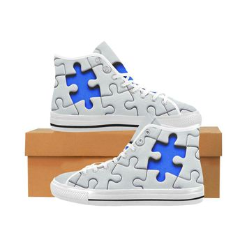 Autism Design 6 Vancouver High Top Canvas Men's Shoes