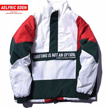 Trendy Aelfric Eden Vintage Color Block Patchwork Pullover Jackets Mens Hip Hop Embroidery Windbreaker Jacket Winter Streetwear FC01 AT_94_13