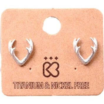 Must Have-Classic Antler Earring, Silver