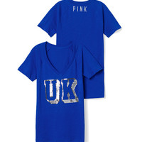 University of Kentucky Bling V-neck Raglan Tee
