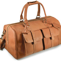 Potenza Weekender Bag - Tan full grain leather