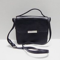 Black Faux Leather Toni Shoulder Purse with Coin Purse