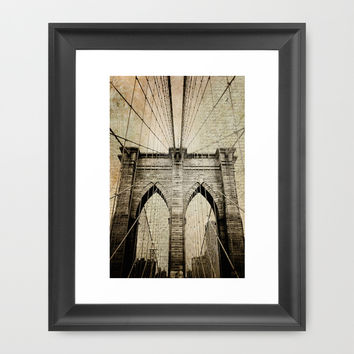 Letters From Brooklyn Framed Art Print by from Society6 | New