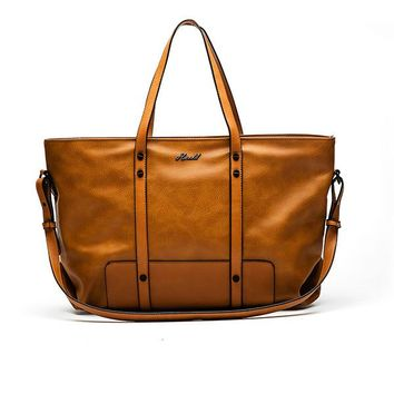 Leather Handbags Spring Casual Tote Bag Big Shoulder Bags For Woman