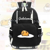NEW Preppy Style Luminous men Schoolbag Cosplay Canvas women shoulder Bag Cute Naughty Cute Gudetama Backpack Travel Bags