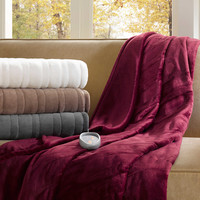 Beautyrest Ogee Oversized Heated Throw in Grey