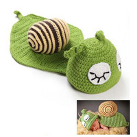 Snail Crochet Set Costume for Newborn Infant Photography Prop