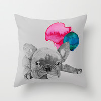 French Bulldog  Throw Pillow by Olivia James