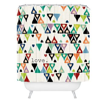 Sharon Turner Love 3 Shower Curtain