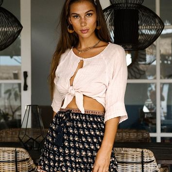 Moondance Mini Skirt Sandalwood