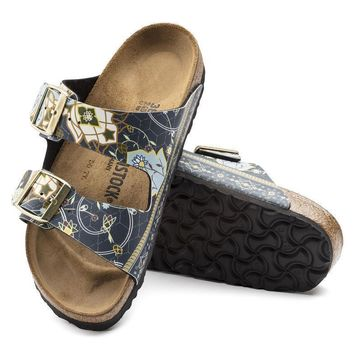 Sale Birkenstock Arizona Birko Flor Ancient Mosaic Blue 1009800 Sandals