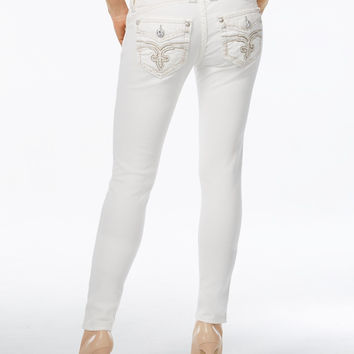 Rock Revival Skinny White Wash Jeans, Only at Macy's