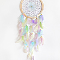 DreamCatcher, Boho Dreamcatcher, Pastel Dream catcher, Large Dreamcatcher, Pink dreamcatcher Handmade, Wall Hanging, Home Decor , Gypsy