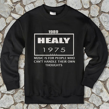 the 1975 shirt the 1975 sweatshirt unisex crewneck matt healy shirt white black gray colour available size s-m-l