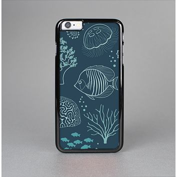 The Dark Teal Sea Creature Icons Skin-Sert Case for the Apple iPhone 6