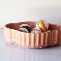 Vintage Mc Coy Coral Planter Bulb Bowl
