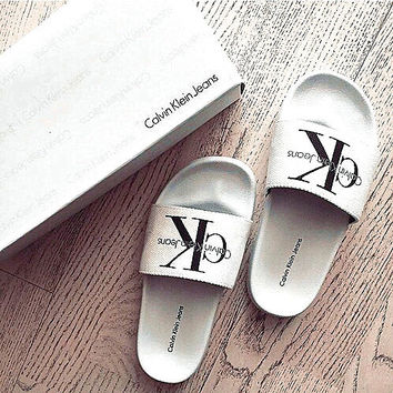 Calvin Klein Casual Woman Fashion Sandals Slipper Shoes