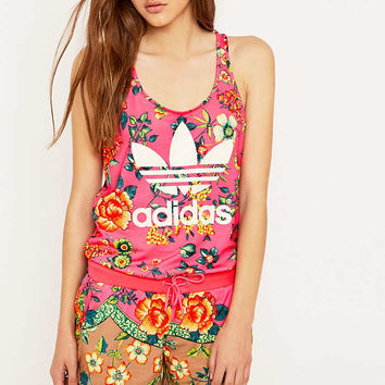 adidas Originals x Farm Jardineto Pink Playsuit - Urban Outfitters