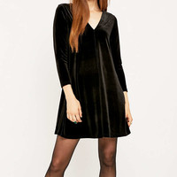 Urban Renewal Vintage Remnants Black Velvet Swing Dress - Urban Outfitters