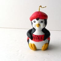 Giftco Ceramic Penquin Christmas Bell 1986