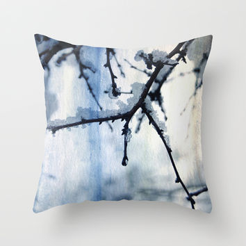 Snow and water Throw Pillow by VanessaGF | Society6