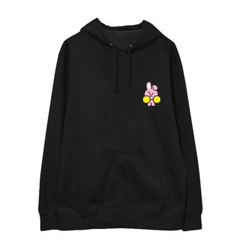 KPOP BTS Bangtan Boys Army   Boys BT21 Cartoon Album SUGA V JIMIN Hoodie Hip Hop Casual Cotton Hoodies With Hat Pullover Printed Sweatshirts AT_89_10