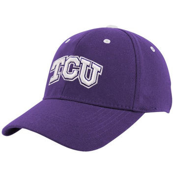 Top of the World TCU Horned Frogs Youth Purple Basic Logo 1Fit Hat - http://www.shareasale.com/m-pr.cfm?merchantID=7124&userID=1042934&productID=525466710 / TCU Horned Frogs
