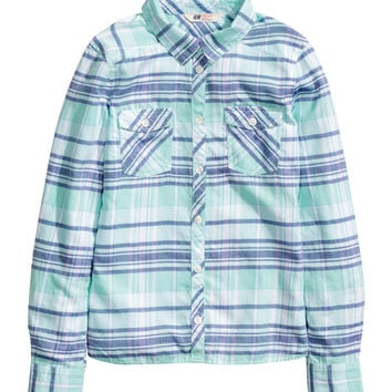 H&M - Cotton Shirt - Mint green - Kids