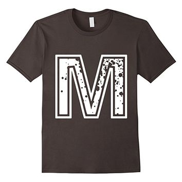 "Big ""M"" Alphabet Vintage Distressed T-Shirt"
