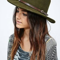 Christys' Crushable Western Hat in Dark Green - Urban Outfitters