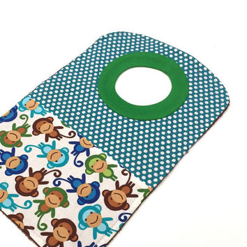 Large Eating Bibs - Pullover Bibs - Large Bibs For Babies - Baby Boy Bibs - Toddler Bibs - Toddler Gift - Monkey Pullover Bib - Boy Bibs #81
