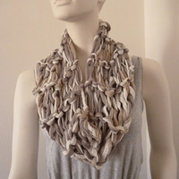 Womens Mesh Cowl, Fashion Cowl, Brown Cowl