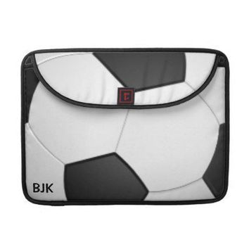 Soccer Ball Design Rickshaw MacBook Pro Case from Zazzle.com