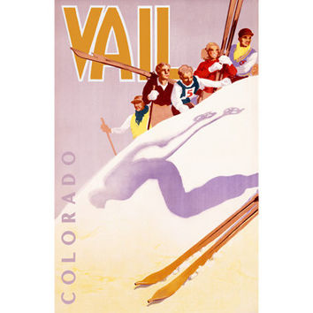 Personalized Ski Vail Colorado Wood Sign