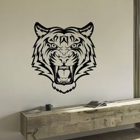 Wall Decal Vinyl Sticker Wild Animal Predator Tiger Decor Sb466