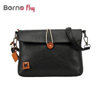 2017 Vintage Pu Leather Bag for Girls ladies Candy Color Button Crossbody bag School Casual women Messenger Bags bolsas