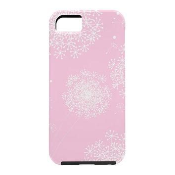 Monika Strigel Dandelion Snowflake Pink Cell Phone Case