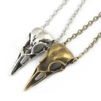 Steampunk Halloween crow skull pumpkin ghost necklace Pendant cosplay accessories