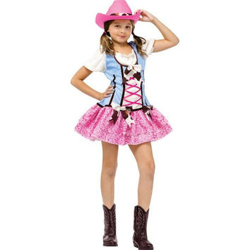 Girl's Costume: Rodeo Sweetie with Hat | Medium