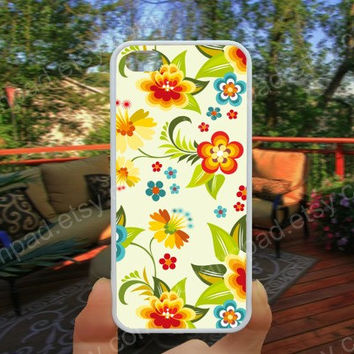 Golden flowers case colorful  iphone 4/4s case iphone 5/5s/5c case samsung galaxy s3/s4 case galaxy S5 case Waterproof gift case 508
