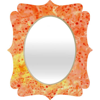 Rosie Brown Florida Orange Quatrefoil Mirror