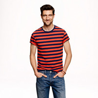BLAZING ORANGE STRIPE TEE