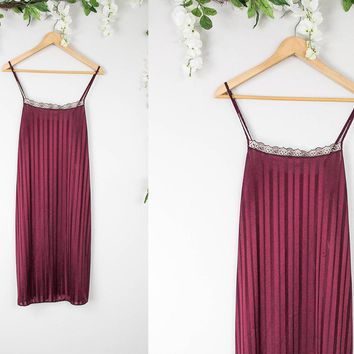Vintage Maroon Slip Dress