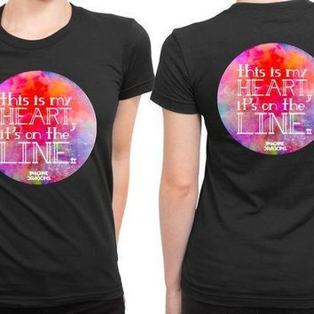 Imagine Dragons This Is My Heart Its On The Line 2 Sided Womens T Shirt
