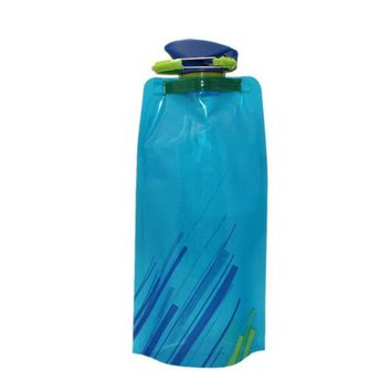 Flexible Collapsible Foldable Reusable 700ml Drink Water Bottle