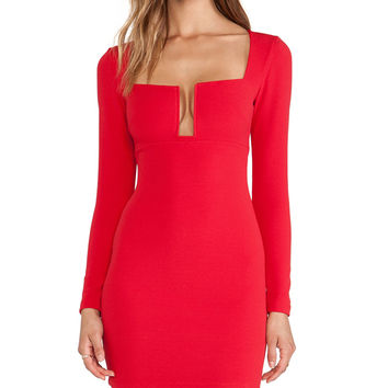 Nookie Stadium Winter Edition Dress in Red