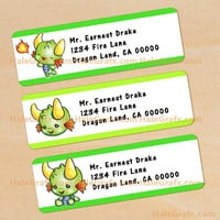 Dragon Address Labels Printable, DIY File
