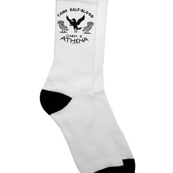 Camp Half Blood Cabin 6 Athena Adult Crew Socks by