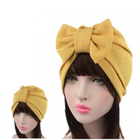 New women luxury bow Turban Hat Stylish Chemo cap